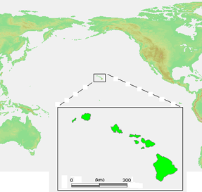 Hawaiian Islands location