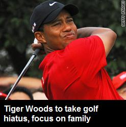 Tiger Woods: Time for Golf Hiatus