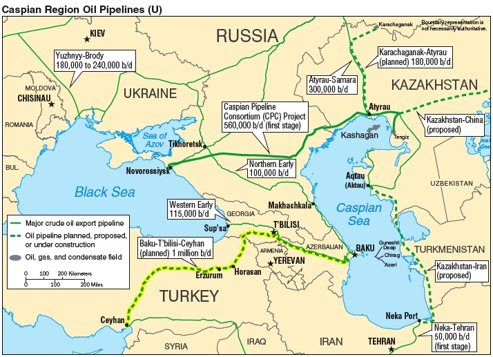 Caspian Pipeline Map